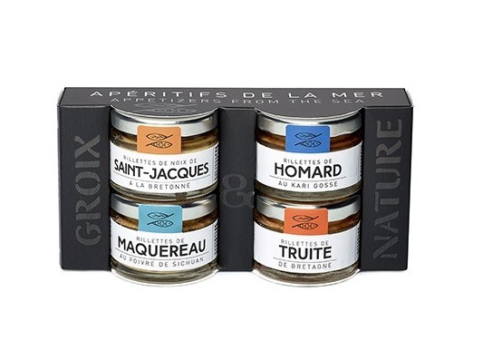 pots mini rillettes Groix et Nature